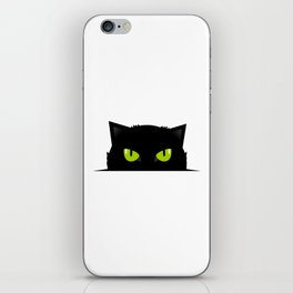 Black cat follow you #society6 #decor #buyart #artprint iPhone Skin