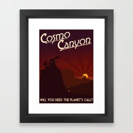 Final Fantasy VII - Cosmo Canyon Tribute Framed Art Print