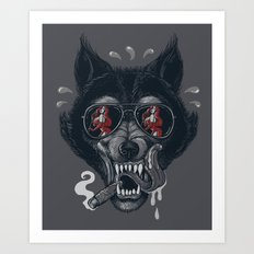 Hungry like the Wolf! Art Print