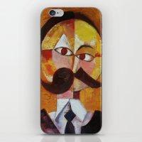 nietzsche iPhone & iPod Skins featuring Friedrich Nietzsche by Renee Bolinger