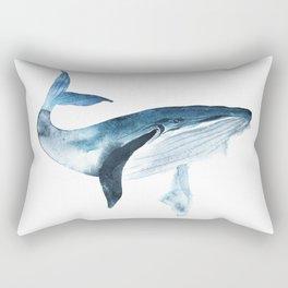 Big blue whale Rectangular Pillow