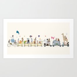 big playtime parade Art Print