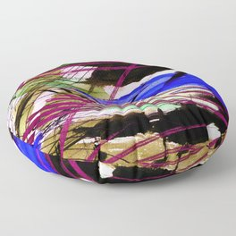 Abstract Joy 3H by Kathy Morton Stanion Floor Pillow