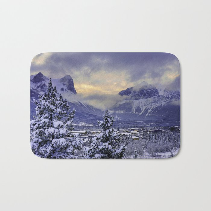 Winter Wonderland #snow Bath Mat