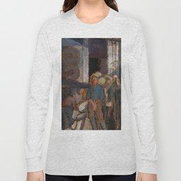 Alvar Cawén - At the Factory [1919], man, blue, dress Long Sleeve T-shirt