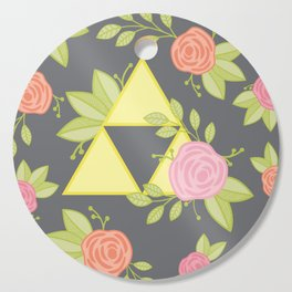 Garden of Power, Wisdom, and Courage Pattern in Grey Cutting Board