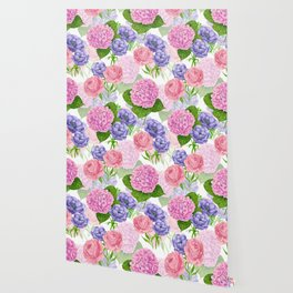 Watercolor floral pattern Wallpaper
