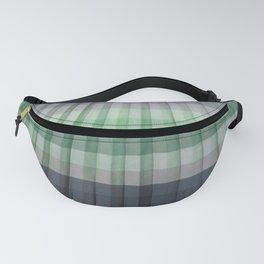 Pleats Gray Green Fanny Pack
