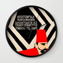 Retro geometric style German Turkish tobacco ad Wall Clock