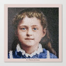 Young St. Therese of Lisieux Canvas Print