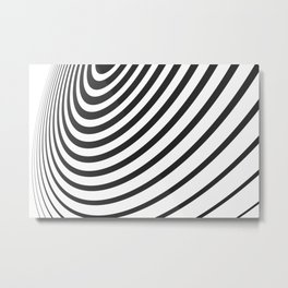 Black and White Minimal 3D Circle III Metal Print