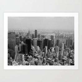 New York City Black and White Art Print