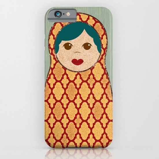 Red and Yellow Matryoshka Nesting Dolls iPhone & iPod Case