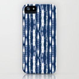 Shibori Stripes Indigo Blue iPhone Case