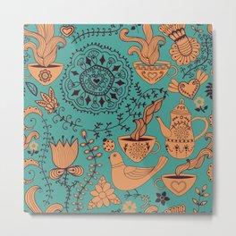 tea decoration Metal Print