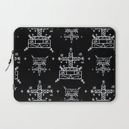 Baron Samedi Voodoo Veve Symbols in Black Laptop Sleeve