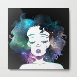The Galaxies in Her Hair Metal Print