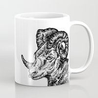 ram Mugs featuring Ram by turquoisecactus