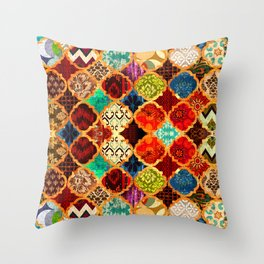 -A32- Epic Colored Traditional Moroccan Artwork. Throw Pillow