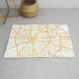 DALLAS TEXAS CITY STREET MAP ART Rug