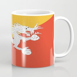 Flag of bhutan-,Bhutan, Himalaya, South Asia,Bhutanese, bhoutan, bhoutanais, dragon Coffee Mug