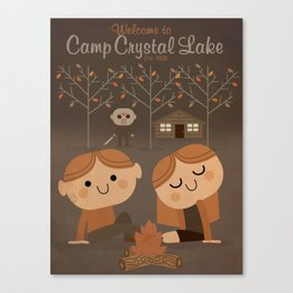 welcome to camp crystal lake Canvas Print