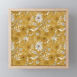 Bohemian Summer Floral in Yellow Framed Mini Art Print