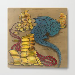 Tiny Dragon Metal Print
