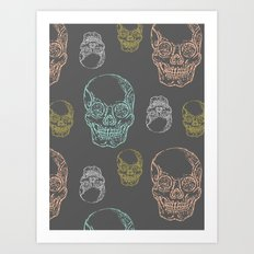 Flirty Skulls Art Print
