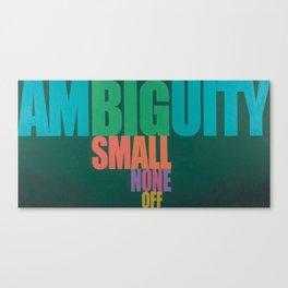 Ambiguity Canvas Print