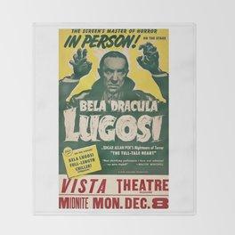 Dracula, Bela Lugosi, vintage poster Throw Blanket