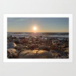 Majestic Beach Sunset Art Print