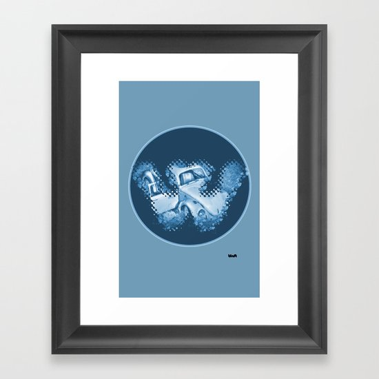 """HE"" has memories... Framed Art Print"
