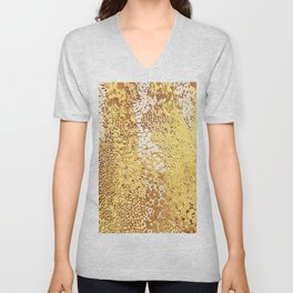 gush of dots in yellow Unisex V-Neck