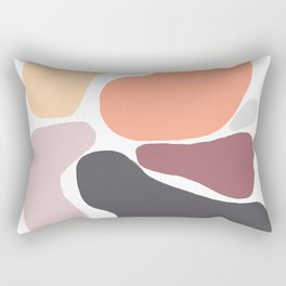 Big Bright Blobs in Peach and Grey Rectangular Pillow