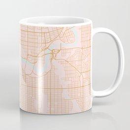 Edmonton map, Canada Coffee Mug