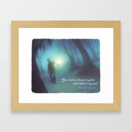A Light for My Path Framed Art Print