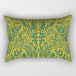 Green Botanical Damask Rectangular Pillow