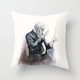 Leonard Bernstein Portrait Throw Pillow