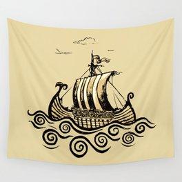 Viking ship 2 Wall Tapestry