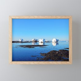 Winter on the Saint-Lawrence Framed Mini Art Print