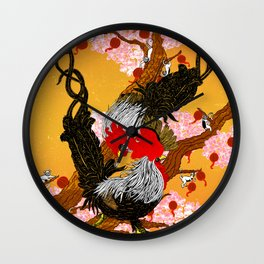 Year of the Fire Rooster Wall Clock