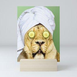 Lion in a Towel Mini Art Print