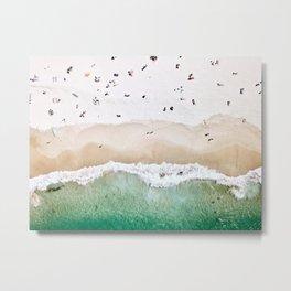 A done shot of a sandy beach Metal Print