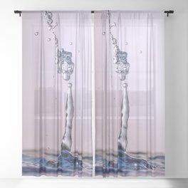 Water drop splash Sheer Curtain