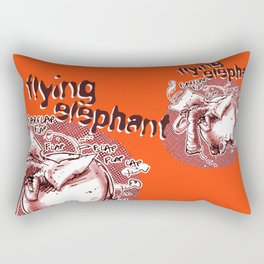 flying elephant Rectangular Pillow