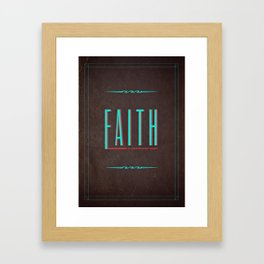 Faith Typography Framed Art Print