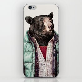 Black bear iPhone Skin
