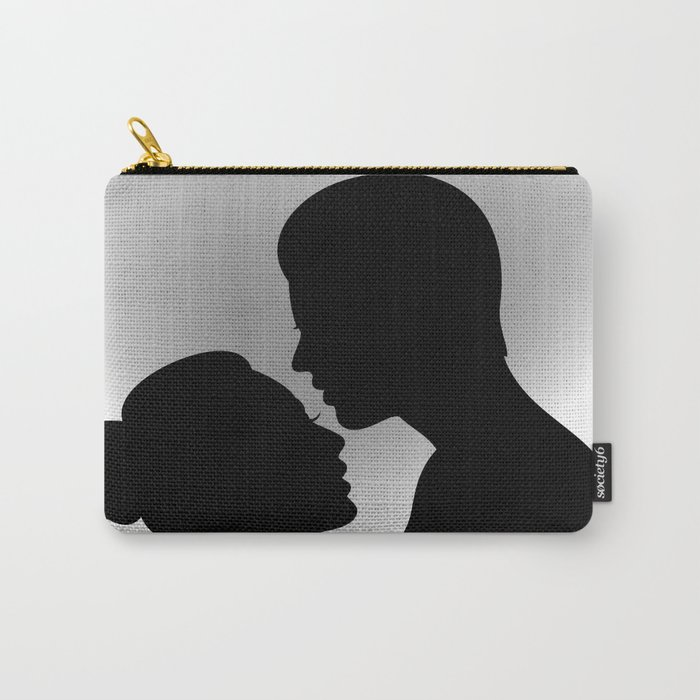 Couple with heart shaped background Carry-All Pouch