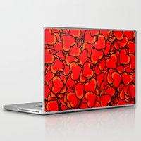 hearts Laptop & iPad Skins featuring Heart by 10813 Apparel
